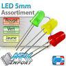LED 5mm Assortiment : rouges + vertes + jaunes - Lots multiples, prix dégressif