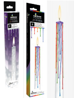 "Pack of 2 Rainbow Moments Unique Drip Candles 10"" Dinner Party Table Accessory"