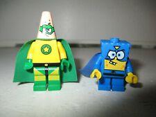 LEGO SPONGEBOB SQUAREPANTS  & PATRIC SUPER HEROES MINIFIGURES (GENUINE LEGO)