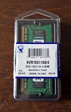 4GB Kingston 1600MHz  DDR3 RAM for laptops KVR16S11S8/4 PC3 SODIMM CL11