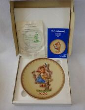 "GOEBEL/HUMMEL PLATE ""Apple Tree Girl"" - 1976 with Original Purchase Receipt-NIP"