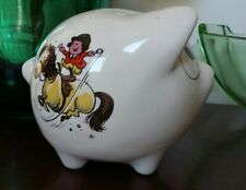 Norman Thelwell Pony Horse Jockey Girl Ceramic Money Box Piggy Bank 80s