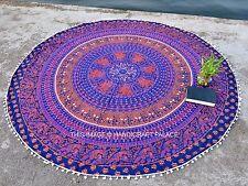 Indian Rotondo Mandala Stuoia Yoga Da Parete Boho Spiaggia Copriletto Arazzo