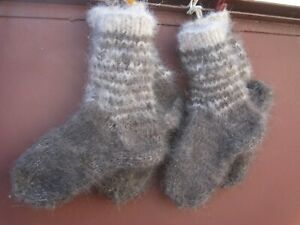 Hunting fishing socks 100% natural DOG's down hair yarn handknitted furry thick