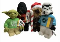 Lego Star Wars Christmas Plush Set 4 Yoda, Chewbacca, Stormtrooper, Darth Vader