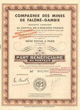 Compagnie des Mines de Faleme-Gambie SA, parte preferente, 1941