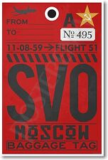 SVO - Moscow - Airport Tag - NEW Travel POSTER (tr506)
