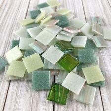 "Mosaic Mercantile 3/4"" Glass Mosaic Tiles Spanish Moss Mix 1/2 Pound"