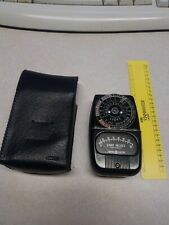 Vintage General Electric Exposure Meter with Leather Case - Working