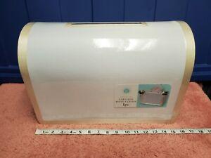 Victoria Lynn Wedding Card Box Wedding Gift Box w/ Gold Trim NWT