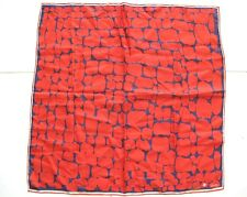 VERA SCARF RED SPLATTER PRINTS ACETATE VINTAGE 1960's MADE IN JAPAN
