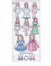 "452 Vintage Slender Doll Pattern - Size 14"" - Year 1934"