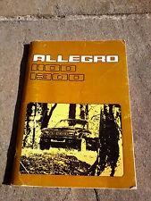 AUSTIN ALLEGRO 1100 1300 HANDBOOK  LEYLAND 1972