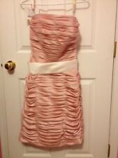 Expressions Bridesmaid/Prom Knee Length Pink Dress Size 6