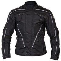 Raven Textile Motorcycle Armoured Jacket (Cordura Fabric Biker Advanced Black