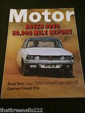 MOTOR MAGAZINE - ROVER 2000 - AUG 9 1969