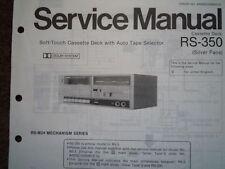 Panasonic RS-350 RS-3 A CASSETTE TAPE DECK servizio manuale parti di Cablaggio Diagramma M24