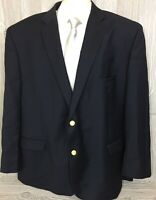 LAUREN Ralph Lauren Mens Navy Wool Blazer w/Gold Buttons 52R (t17)