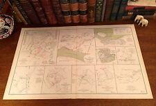 Antique Civil War Map REBEL FORTIFICATIONS Columbus Kentucky VIRGINIA BATTLES