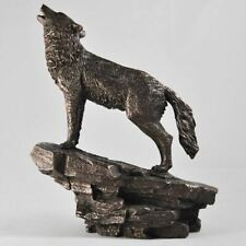 More details for howling wolf sculpture statue wolfs gifts gothic figure ornaments figurines