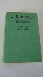 The Return of Tarzan Edgar Rice Burroughs 1915 HC A.L. Burt McClurg #2 in series