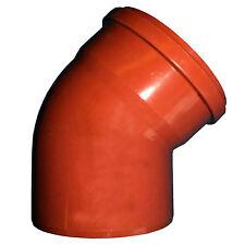 Rehau Bogen DN 200 45° KG-Abwasserrohr Abflussrohr Formstück