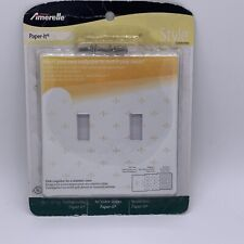 Lot of 2 Paper-It Wallplate Hidden Screws Double Switch Plate Cover AmerTac