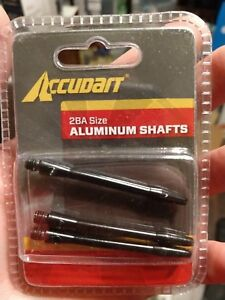Accudart 2BA Size Aluminum Shafts Black 3 in Package
