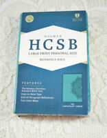 Holman Large Print Personal Size Reference Bible Teal HCSB Indexed