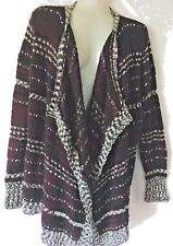 Romeo And Juliet Couture Women Open Cardigan Knit Multi-color Size M Striped
