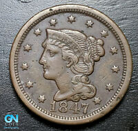 1847 Braided Hair Large Cent --  MAKE US AN OFFER!  #B3708