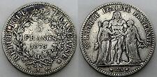 FRANCIA 1875 K ECU 5 FRANCS MONEDA PLATA ESCASA BC
