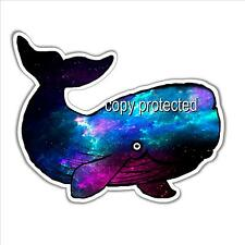 funny car bumper sticker space whale starry night sky blue 115 x 93 mm decal