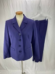 Doncaster Women's Purple 2 Piece Pant Suit 12 NWT