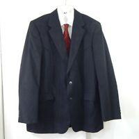 CIRCLE S jacket blazer sport coat western cowboy faux suede microfiber black 48L