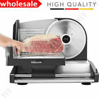 Electric Meat Slicer Commercial Blade Jerky Deli Cheese Food Cutter Kitchen -NEW