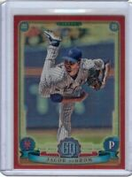 Jacob deGrom 2019 Topps Gypsy Queen Red Refractor Box Topper Mets #200 1/5