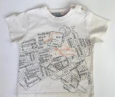 Burberry, Cream Travel Book T-Shirt, Boy, Size 2