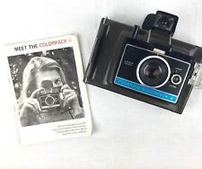 Vintage Polaroid Colorpack II Land Camera with Strap 1969 1972 Instruction Book
