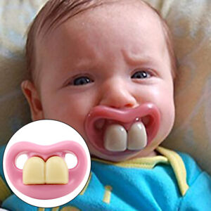 Mouth Baby Funny Dummy Pacifier Novelty Teeth Children Soother Feeding Tool