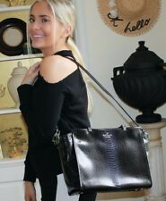 Kate Spade Chelsea Square Luxe Hayden Bag Purse - Black/Space Ombre Snake