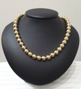 Miran 080583 Necklace Rolled Gold Stamp 14/20 Ball 10mm 42cm 34.4g RRP $785