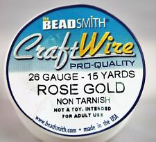 Beadsmith Craft Wire Pro Quality Rose Gold 26 Gauge 15 Yards