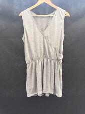 New Selected Femme Elena Wrap Grey Jesery Summer Beach Dress UK Medium 12 CR50