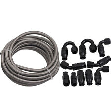 AN-8 AN8 Stainless Steel PTFE Fuel Line 20FT Fitting Hose End Ethanol Swivel Kit