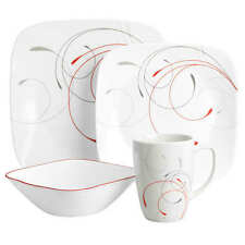 Corelle square Splendor 16PC dinnerware set paypal crazy sale