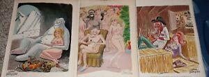 PLAYBOY Magazine Cartoons JOHN DEMPSEY Over 250! Nudist Camp Yeti Wild West