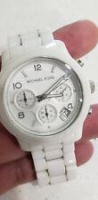 Michael Kors  Runway MK5161 Wrist Watch for Women Ceramic.39mm. Needs battery