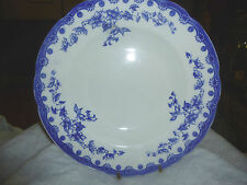 Wedgwood  & Co England Royal Semi Porcelain HASTINGS Soup Bowl 10in. White Blue
