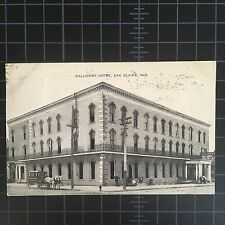 Vintage Postcard Eau Claire, Wisconsin WI Galloway Hotel 1909